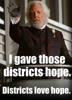 President Snow gives Hope
