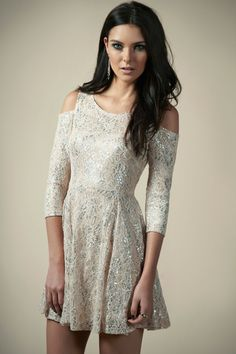 Amelia Lurex Foil Dress at boohoo.com