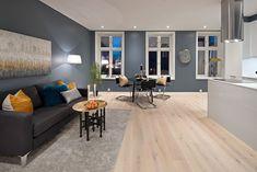 Velkommen til denne lekre leiligheten på Enerhaugen. Leiligheten har entré med garderobeplass, lyst flislagt bad og åpen kjøkken-/stueløsning med kjøkkenøy og god plass til spisebord samt sofagruppe. 3 soverom. Leiligheten ligger usjenert til, rett ut mot stille gate. Meget idyllisk beliggenhet. Leiligheten disponerer i tillegg 1 stor loftsbod og 1 bod i kjelleren i samme oppgang. Home Fashion, Conference Room, Real Estate, House Styles, Table, Inspiration, Furniture, Home Decor, Houses