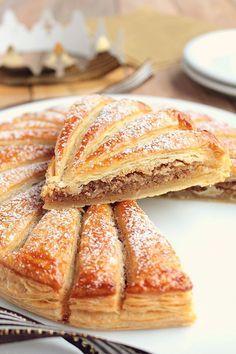 Galette des Rois with Hazelnut Frangipane - French Desserts, Köstliche Desserts, Delicious Desserts, Dessert Recipes, Yummy Food, French Recipes, Pastry Recipes, Cooking Recipes, French Patisserie