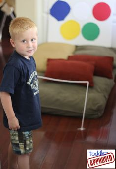Toddler Approved!: Olympic Fun: Straw High Jump