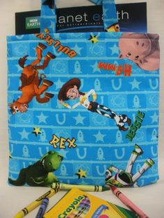 Toy Story Crayon Tote by NotWithoutAnnette on Etsy, $17.00