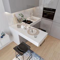 home interior design kitchen room Kitchenette Design, Small Kitchenette, Kitchenette Ideas, Basement Kitchenette, Small Apartment Interior, Small Apartment Design, Cozy Apartment, Apartment Ideas, Studio Kitchen