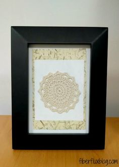Bamboo Lace Wall Art on Fiber Flux