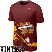 Nike Minnesota Golden Gophers Vault Big Logo Crew Tri-Blend T-Shirt - Maroon