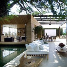 Outdoor Theater | Pool | Doors | Decor | Design