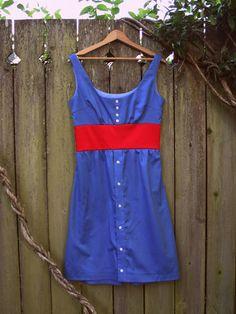 Adventures in Dressmaking: The Button Up Refashion Swap: Recylced men's shirt dress tutorial!