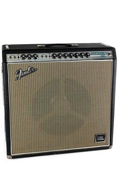 The Fender Super Reverb tube combo guitar amplifier was offered in a silverface finish between 1968 and although some early silverface finished Fender Guitar Amps, Fender Stratocaster, Acoustic Guitar, Bass Guitars, Electric Guitars, Fender Vintage, Vintage Guitars, Guitar Musical Instrument, Musical Instruments