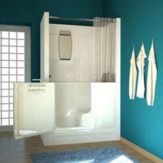 Easy Access Meditub 2747 Series Walk-in Bath Tubs 2019 walk in tub shower combo Walk In Tub Shower, Bathtub Shower Combo, Walk In Tubs, Walk In Bathtub, Small Bathroom With Shower, Bathtub Tile, Small Bathtub, Diy Shower, Small Bathrooms