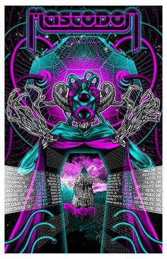 Psychedelic Trippy Poster 20x30 24x36 P594 Art Mastodon