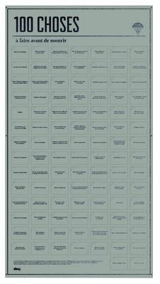 Poster 100 Choses à faire avant de mourir / Avec vignettes interactives - L 55 x H 98 cm Choses à faire / Taupe - Doiy - Décoration et mobilier design avec Made in Design
