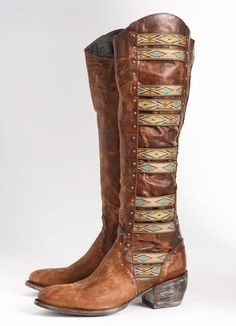 There is 1 tip to buy these shoes: boots fashion style gypsy bohemian boho chic aztec cowboy boots cowgirl boots hippie summer winter swag brown leather. Boot Over The Knee, Over Boots, Cowgirl Style, Cowgirl Boots, Cowboy Boot Outfits, Crazy Shoes, Me Too Shoes, Botas Boho, Bobbies Shoes