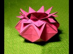 Origami box – 16 Points Star Vase - Star candy box