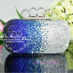 Blue And Silver Evening Bag Womens Shoulder Bag Messenger Satchel Medium Evening Bag Casual Clutch Bag