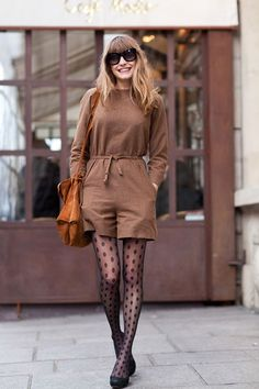 Under Romper - 7 Street Style Outfits with Tights to Recreate ...