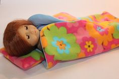 All Things With Purpose: {FREE} American Girl Doll Sleeping Bag Pattern by nicole Sewing Doll Clothes, Sewing Dolls, Ag Dolls, Doll Clothes Patterns, Girl Doll Clothes, Girl Dolls, Doll Patterns, American Girl Crafts, American Doll Clothes