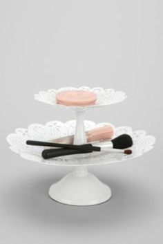 Double-Tiered Lace Tray