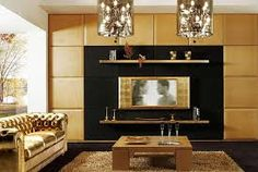 Modern Art Deco Living Room design with a golden theme. Art Deco Inspiration With a Contemporary Flap Art Deco Room, Art Deco Living Room, Small Living Room Design, My Living Room, Living Room Designs, Living Room Interior, Interior Design Living Room, Art Deco Zimmer, Design Visual