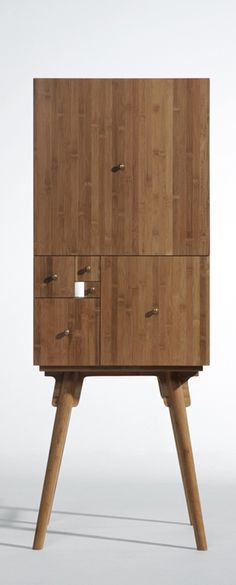 Fibonacci cabinet in bamboo by Chinese designer Wang Peng, Utad Studio