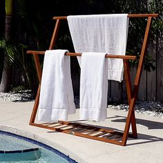 looks great but with one towel stretched out to dry it takes up almost 1 rack.