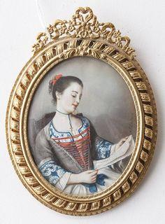 Signed Miniature on Ivory Portrait : Lot 149A