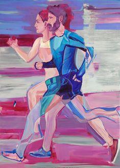 Runners, acrylic and oil on canvas, cm Runners, Oil On Canvas, Disney Characters, Fictional Characters, Paintings, Disney Princess, Art, Hallways, Art Background