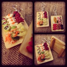 Sushi earrings!