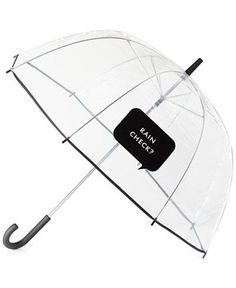 When was the last time you actually wished for rain? You'll be hoping for afternoon showers just so this witty umbrella can get some exposure (and, undoubtedly, some commentary.) We love how it earns