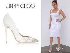 Jennifer Lopez' Jimmy Choo 'Anouk' Studded Leather Pumps
