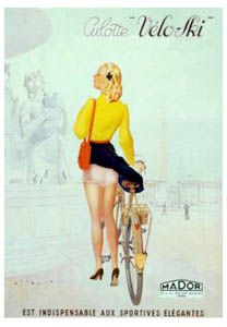 CULOTTE VELO-SKI Women's Cycling Art Deco Reprint Poster - Bicycling Poster, circa 1930s, Paris ~Available at www.sportsposterwarehouse.com