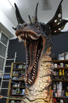dragon lifesize foam sculptures | Traditional Art / Sculpture / Fantasy ©2011-2013 ~ FUVL