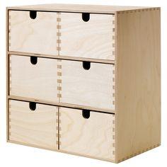 Bloc 3 tiroirs en pin brut leroy merlin unit hauteur du produit - Rangement cartes postales ...