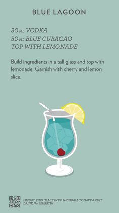 Based in Melbourne, Australia / A collection of recipes I find, steal or create, spread out in a simple layout, courtesy of the mobile app Highball. Drink Bar, Liquor Drinks, Vodka Cocktails, Cocktail Drinks, Alcoholic Drinks, Beverages, Party Drinks, Blue Drinks, Mixed Drinks