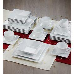 LUBIANA CLASSIC Serwis obiadowo-kawowy 6 osób / 30 elementów / Porcelana