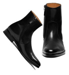 Men Side Zipper Leather Boot Ankle High Leather Boot Dress Black Leather Boots sold by Lajuria. Shop more products from Lajuria on Storenvy, the home of independent small businesses all over the world. High Leather Boots, Calf Leather, Leather Men, Black Boots, Men's Shoes, Dress Shoes, Shoes Men, Mens Boots Fashion, Fashion Shoes