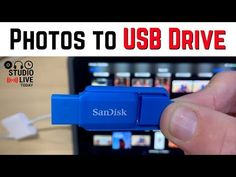 Export photos to USB drive from iPhone/iPad Usb Drive, Usb Flash Drive, Ipad Photo, Iphone, Youtube, Photos, Technology, Music, Tech