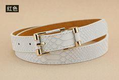 Hot classic crocodile pattern female belt Jeans for women 2018 russian fashion casual snakeskin Slimming Belts Women's U102