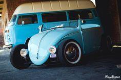 Blue convertable..