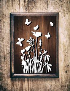Fish Wall Decor, Fish Wall Art, Diy Butterfly Decorations, Bohemian Baby Nurseries, Grass Flower, Useful Origami, Silhouette Machine, Cricut Design, Paper Cutting