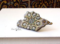 Damascene Arabesque Ring by LuceCultura on Etsy, €18.00