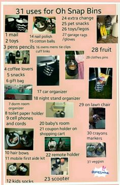 31 uses for the Oh Snap Bins! Www.mythirtyone.com/307721