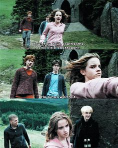 When Hermione clocked Draco and you were just like, GET IT GURL.