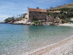 A favorite Hvar town Dubovica beach only 8 km east of the town.