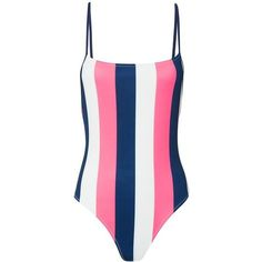 Shop from luxury labels, emerging designers and streetwear brands for both men and women. Neon Pink Swimsuit, Blue One Piece Swimsuit, Navy One Piece, Striped One Piece, Striped Swimsuit, Swimming Costume, Stripes Fashion, Swimsuits, Swimwear