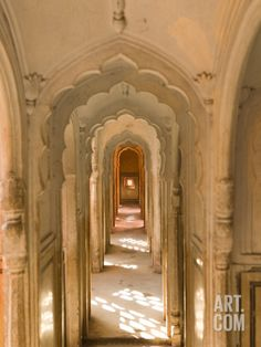 Hallway of The Palace of the Winds, India Photographic Print by Walter Bibikow at Art.com