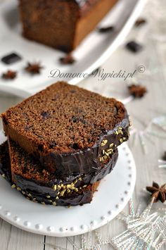 Wilgotne ciasto piernikowe Köstliche Desserts, Delicious Desserts, Loaf Cake, Polish Recipes, Baking Tips, Beautiful Cakes, Gingerbread, Food And Drink, Cooking Recipes