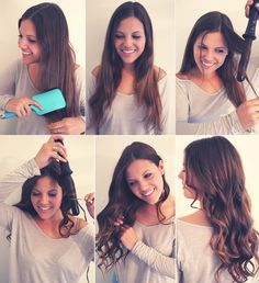 Beach waves with a curling wand.