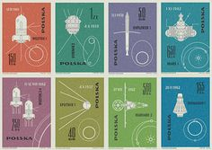 Polish space stamps 1963