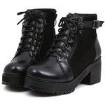Lace-up Chunky Boots OASAP.COM