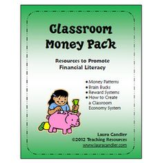 Free Classroom Money Pack includes 9 pages of money patterns, Brain Bucks, a Bank Account transaction page, and information about setting up a classroom economy system. Classroom Money, Classroom Freebies, School Classroom, Classroom Activities, Classroom Organization, Classroom Decor, Classroom Economy System, Classroom Management, Class Management